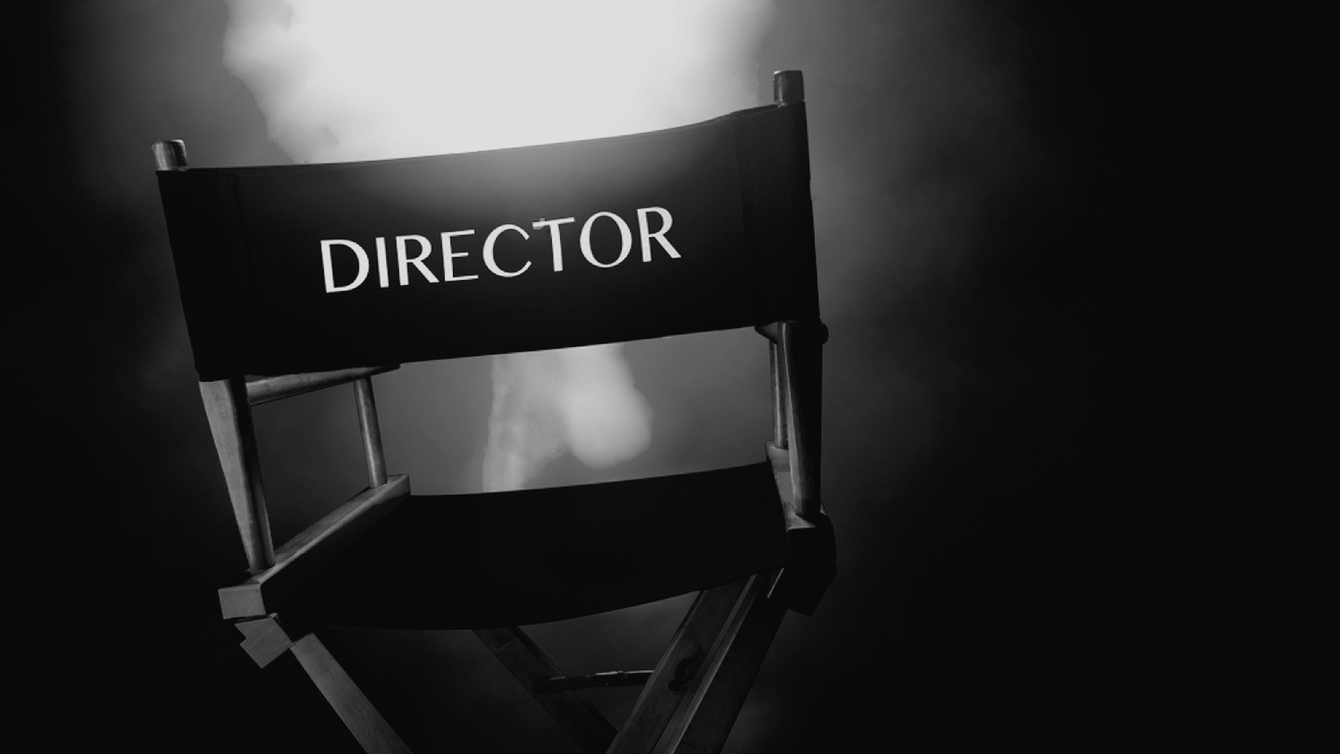 Directors Chair Black and White